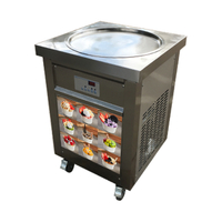 Hot Sale Flat Single Pan Fry Ice Cream Machine