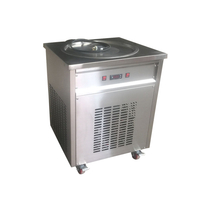Single Pan Fried Ice Cream Machine For Ice Cream Store