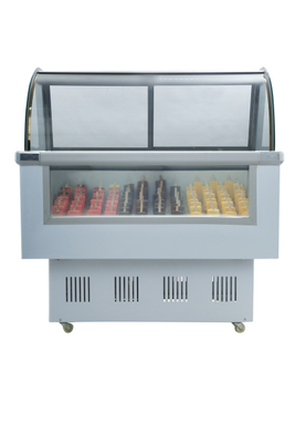 Hard Ice Cream Showcase Glass Display Counter Refrigeration Equipment For Sale