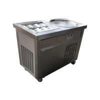Single Pan VN Fried Ice Cream Rolls Pan Flat Roll Ice Cream Machine
